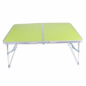 perfk Tragbarer Klapptisch Aluminium Reisetisch Falttisch Gartentisch - Grün - 6