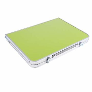 perfk Tragbarer Klapptisch Aluminium Reisetisch Falttisch Gartentisch - Grün - 8