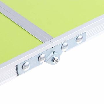 perfk Tragbarer Klapptisch Aluminium Reisetisch Falttisch Gartentisch - Grün - 9