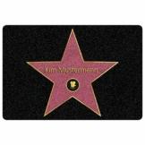 Personalisierte Fußmatte Walk of Fame mit Namen - Geschenke für Männer, Frauen und Paare mit Name personalisiert Muttertag Vatertag - 1