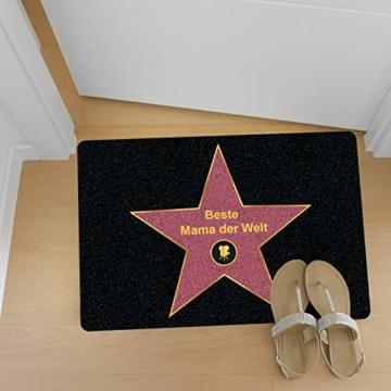 Personalisierte Fußmatte Walk of Fame mit Namen - Geschenke für Männer, Frauen und Paare mit Name personalisiert Muttertag Vatertag - 3