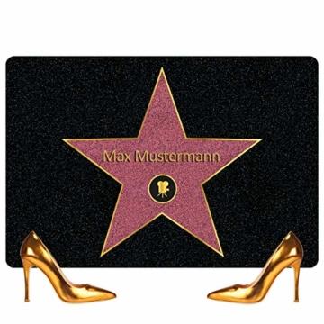 Personalisierte Fußmatte Walk of Fame mit Namen - Geschenke für Männer, Frauen und Paare mit Name personalisiert Muttertag Vatertag - 5