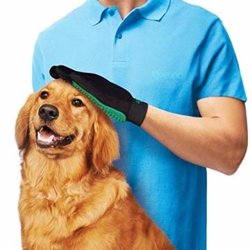 Petino Fellpflegehandschuh Tierhaarentferner Bürste Massage Fellpflege Grooming Glove Hund Katze - 3