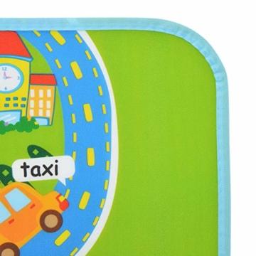 Pink Papaya XXL Spiel-Teppich für Kinder, isolierte wasserfeste Picknickdecke inkl. Tasche, 160 x 180 cm Straßenteppich City, Stadt mit Feuerwehr Polizei für Jungen und Mädchen - 6