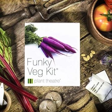Plant Theatre Flippiges Gemüse-Kit - 5 außergewöhnliche Gemüse zum Selbstzüchten - 5