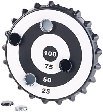 Playtastic Kronkorken Dart: Magnetisches Kronkorken-Dartspiel mit 6 Kronkorken, Ø 24 cm (Kronkorken Dartscheibe) - 2