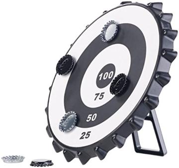 Playtastic Kronkorken Dart: Magnetisches Kronkorken-Dartspiel mit 6 Kronkorken, Ø 24 cm (Kronkorken Dartscheibe) - 3
