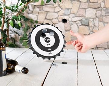 Playtastic Kronkorken Dart: Magnetisches Kronkorken-Dartspiel mit 6 Kronkorken, Ø 24 cm (Kronkorken Dartscheibe) - 5