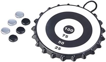Playtastic Kronkorken Dart: Magnetisches Kronkorken-Dartspiel mit 6 Kronkorken, Ø 24 cm (Kronkorken Dartscheibe) - 7
