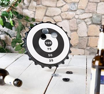 Playtastic Kronkorken Dart: Magnetisches Kronkorken-Dartspiel mit 6 Kronkorken, Ø 24 cm (Kronkorken Dartscheibe) - 8