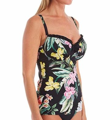 Pour Moi? Damen Miami Brights Underwired Lightly Padded Tankini, Schwarz (Black Black), 75E (Herstellergröße: 34DD) - 1