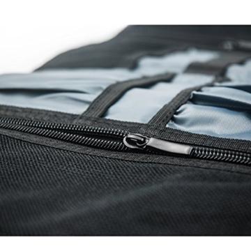 ProCase Travel Gear Organizer Elektronik Zubehör Tasche, Kleine Gadget Tragetasche Aufbewahrungstasche Tasche für Ladegerät USB Kabel SD Speicherkarten Kopfhörer Flash Hard Drive -Rot - 6