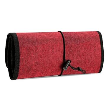 ProCase Travel Gear Organizer Elektronik Zubehör Tasche, Kleine Gadget Tragetasche Aufbewahrungstasche Tasche für Ladegerät USB Kabel SD Speicherkarten Kopfhörer Flash Hard Drive -Rot - 7