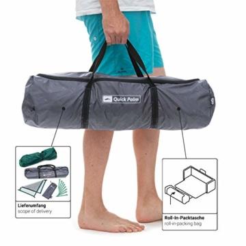 Qeedo Quick Palm Strandmuschel mit UV Schutz (UV80), kleines Packmaß, Sonnenschutz mit Quick-Up System - Mint - 10