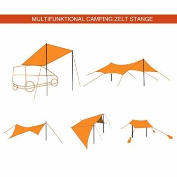 REDCAMP 2 Stück 220cm Zeltstangen Zelt Zeltgestaenge Tarpstange, Gartenliege Sonnensegel Stange Stützstange Ersatzgestaenge für Regenplane Campingzelt Sun Shelter - 5