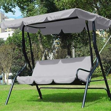 Rehomy Terrassenschaukel-Set, solide, wasserdicht, regendicht, Abdeckung für Hollywoodschaukel und Hollywoodschaukel, Staubschutz, Ersatz für 2- und 3-Sitzer-Größen - 2