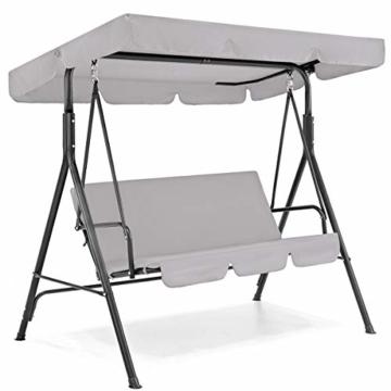 Rehomy Terrassenschaukel-Set, solide, wasserdicht, regendicht, Abdeckung für Hollywoodschaukel und Hollywoodschaukel, Staubschutz, Ersatz für 2- und 3-Sitzer-Größen - 1