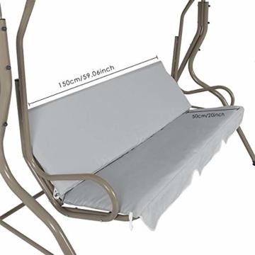 Rehomy Terrassenschaukel-Set, solide, wasserdicht, regendicht, Abdeckung für Hollywoodschaukel und Hollywoodschaukel, Staubschutz, Ersatz für 2- und 3-Sitzer-Größen - 5