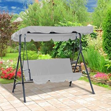 Rehomy Terrassenschaukel-Set, solide, wasserdicht, regendicht, Abdeckung für Hollywoodschaukel und Hollywoodschaukel, Staubschutz, Ersatz für 2- und 3-Sitzer-Größen - 6