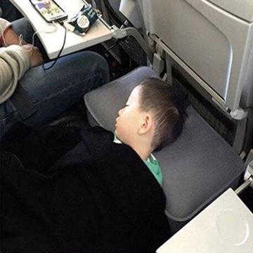 Reise Fußstütze Kissen, HOMCA Aufblasbares Justierbares Höhen-Kissen für Fuß-Rest auf FlugzeugenAutos, Busse, Züge, Büro und Kinder, Zum Auf Langen Flügen zu Schlafen - 5