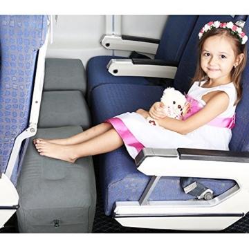 Reise Fußstütze Kissen, HOMCA Aufblasbares Justierbares Höhen-Kissen für Fuß-Rest auf FlugzeugenAutos, Busse, Züge, Büro und Kinder, Zum Auf Langen Flügen zu Schlafen - 6