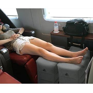 Reise Fußstütze Kissen, HOMCA Aufblasbares Justierbares Höhen-Kissen für Fuß-Rest auf FlugzeugenAutos, Busse, Züge, Büro und Kinder, Zum Auf Langen Flügen zu Schlafen - 7