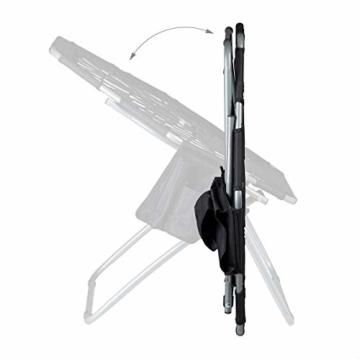 Relaxdays Bungee Stuhl WEBSTER, elastisch, Faltbar, bis 100 kg, Seitentasche, Outdoor Gartenstuhl, Klappstuhl, Schwarz - 7