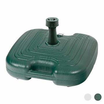 Resol Sonnenschirmständer - Grüner Kunststoff - Zum Befüllen mit Sand/Wasser - 1