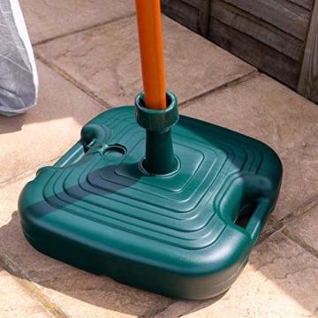 Resol Sonnenschirmständer - Grüner Kunststoff - Zum Befüllen mit Sand/Wasser - 6
