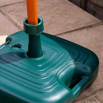 Resol Sonnenschirmständer - Grüner Kunststoff - Zum Befüllen mit Sand/Wasser - 7