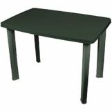 Robuster Gartentisch 101x68cm, Kunststoff, Grün, Campingtisch Beistelltisch - 1