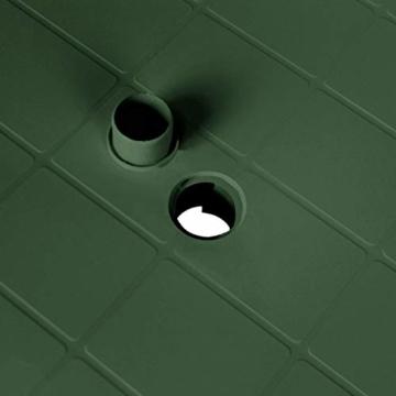 Robuster Gartentisch 101x68cm, Kunststoff, Grün, Campingtisch Beistelltisch - 2