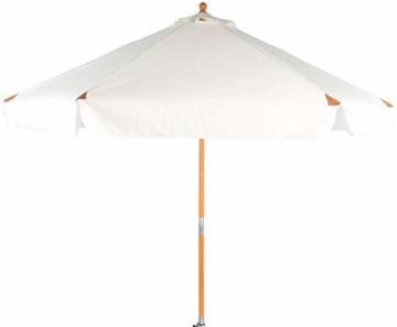 Royal Gardineer Parasol-Sonnenschirm: 2er-Set neigbare Sonnenschirme mit Holzgestell, Ø 3 m, beige (Garten-Sonnenschutz) - 3