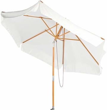 Royal Gardineer Parasol-Sonnenschirm: 2er-Set neigbare Sonnenschirme mit Holzgestell, Ø 3 m, beige (Garten-Sonnenschutz) - 4