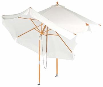 Royal Gardineer Parasol-Sonnenschirm: 2er-Set neigbare Sonnenschirme mit Holzgestell, Ø 3 m, beige (Garten-Sonnenschutz) - 1