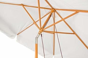 Royal Gardineer Parasol-Sonnenschirm: 2er-Set neigbare Sonnenschirme mit Holzgestell, Ø 3 m, beige (Garten-Sonnenschutz) - 8