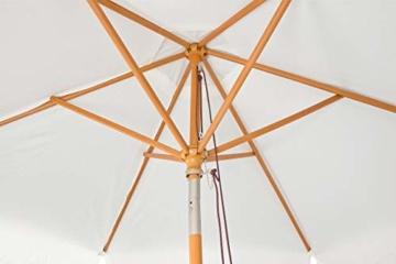 Royal Gardineer Parasol-Sonnenschirm: 2er-Set neigbare Sonnenschirme mit Holzgestell, Ø 3 m, beige (Garten-Sonnenschutz) - 9