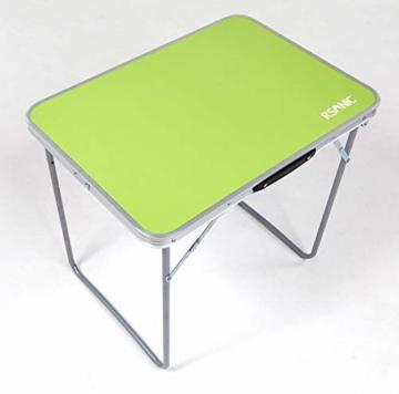 RSonic Campingtisch Aluminium Tisch Klapptisch Gartentisch 70 x50cm grün - 1