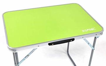 RSonic Campingtisch Aluminium Tisch Klapptisch Gartentisch 70 x50cm grün - 2