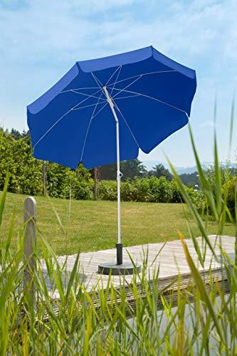 Schneider Sonnenschirm Ibiza, blau, 240 cm rund, Gestell Stahl, Bespannung Polyester, 2.8 kg - 2