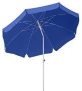 Schneider Sonnenschirm Ibiza, blau, 240 cm rund, Gestell Stahl, Bespannung Polyester, 2.8 kg - 1