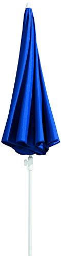 Schneider Sonnenschirm Ibiza, blau, 240 cm rund, Gestell Stahl, Bespannung Polyester, 2.8 kg - 3