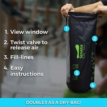 Scrubba Wash Bag 2.0 - Outdoor Camping Waschmaschine - Waschtasche und Waschbeutel - 2