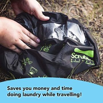 Scrubba Wash Bag 2.0 - Outdoor Camping Waschmaschine - Waschtasche und Waschbeutel - 7