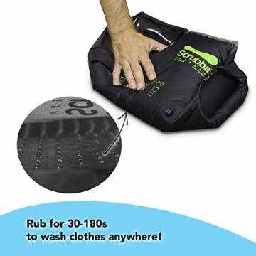 Scrubba Wash Bag 2.0 - Outdoor Camping Waschmaschine - Waschtasche und Waschbeutel - 8