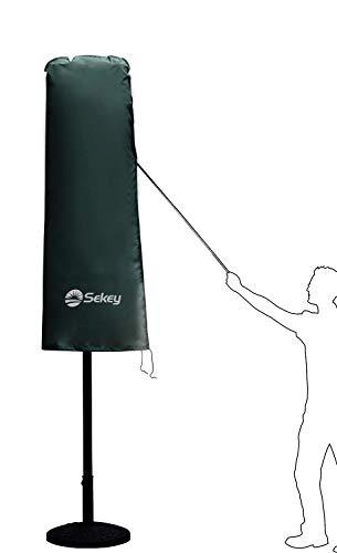 Sekey Schutzhülle für DoppelSonnenschirm, Abdeckhauben für Sonnenschirm,100% Polyester, Grün - 2