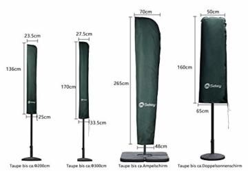 Sekey Schutzhülle für DoppelSonnenschirm, Abdeckhauben für Sonnenschirm,100% Polyester, Grün - 3