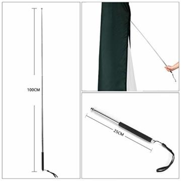 Sekey Schutzhülle für DoppelSonnenschirm, Abdeckhauben für Sonnenschirm,100% Polyester, Grün - 4
