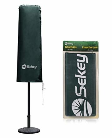 Sekey Schutzhülle für DoppelSonnenschirm, Abdeckhauben für Sonnenschirm,100% Polyester, Grün - 1