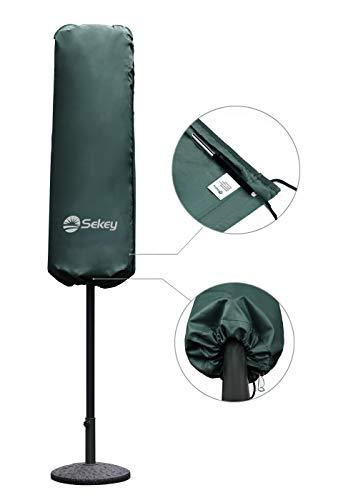 Sekey Schutzhülle für DoppelSonnenschirm, Abdeckhauben für Sonnenschirm,100% Polyester, Grün - 5